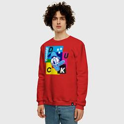 Свитшот хлопковый мужской Donald Duck цвета красный — фото 2