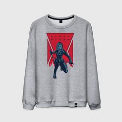 Свитшот хлопковый мужской Black Widow цвета меланж — фото 1