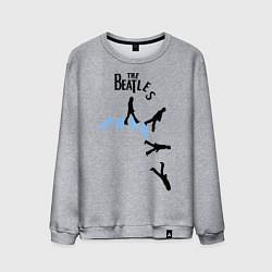 Свитшот хлопковый мужской The Beatles: break down цвета меланж — фото 1