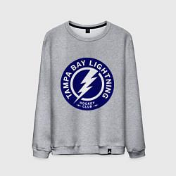 Свитшот хлопковый мужской HC Tampa Bay Lightning цвета меланж — фото 1