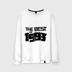 Свитшот хлопковый мужской The best of 1993 цвета белый — фото 1
