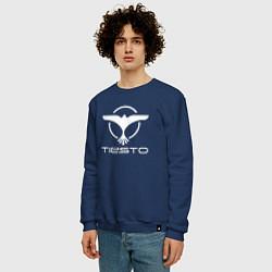 Свитшот хлопковый мужской Tiesto цвета тёмно-синий — фото 2