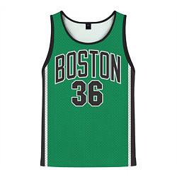 Майка-безрукавка мужская Boston Celtics 36 цвета 3D-черный — фото 1