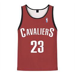 Мужская 3D-майка без рукавов с принтом Cavaliers Cleveland 23: Red, цвет: 3D-черный, артикул: 10128283104123 — фото 1