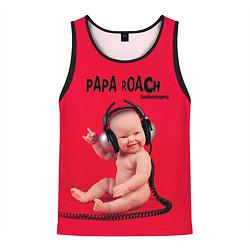 Майка-безрукавка мужская Paparoach: Music Kid цвета 3D-черный — фото 1