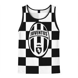 Майка-безрукавка мужская FC Juventus: W&B Grid цвета 3D-черный — фото 1