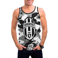 Майка-безрукавка мужская FC Juventus: Camouflage цвета 3D-черный — фото 2