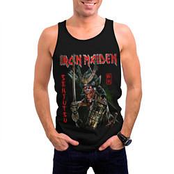 Майка-безрукавка мужская Iron Maiden, Senjutsu цвета 3D-черный — фото 2
