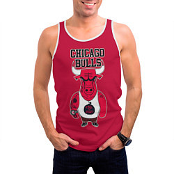 Майка-безрукавка мужская Chicago bulls цвета 3D-белый — фото 2