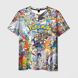Мужская 3D-футболка с принтом Покемоны, цвет: 3D, артикул: 10101111803301 — фото 1