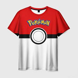 Мужская 3D-футболка с принтом Покеболл 3, цвет: 3D, артикул: 10101351503301 — фото 1