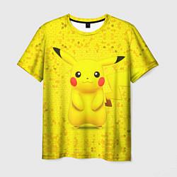 Мужская 3D-футболка с принтом Pikachu, цвет: 3D, артикул: 10104181103301 — фото 1