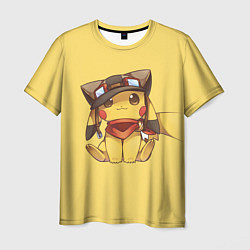 Футболка мужская Pikachu цвета 3D-принт — фото 1