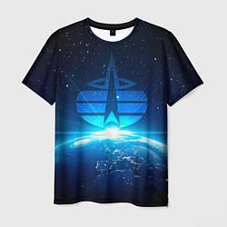 Футболка мужская Космические войска цвета 3D-принт — фото 1