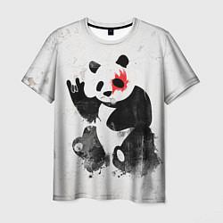 Футболка мужская Рок-панда цвета 3D — фото 1