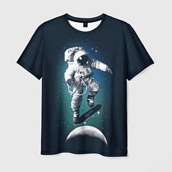 Футболка мужская Космический скейтбординг цвета 3D — фото 1