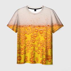 Мужская 3D-футболка с принтом Пивная тема, цвет: 3D, артикул: 10113634403301 — фото 1