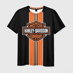Футболка мужская Harley-Davidson цвета 3D — фото 1