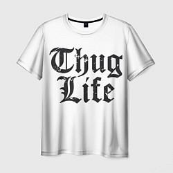 Мужская 3D-футболка с принтом Thug Life, цвет: 3D, артикул: 10130658803301 — фото 1