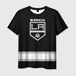 Футболка мужская Los Angeles Kings NHL цвета 3D-принт — фото 1