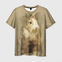 Мужская 3D-футболка с принтом Пушистый кролик, цвет: 3D, артикул: 10131585503301 — фото 1