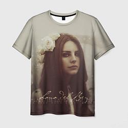 Футболка мужская Lana Del Rey: Flower цвета 3D-принт — фото 1