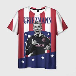 Футболка мужская Griezmann: Atletico Star цвета 3D-принт — фото 1