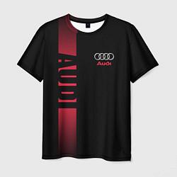 Футболка мужская Audi: Black Sport цвета 3D — фото 1