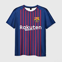Футболка мужская FC Barcelona: Messi Home 18/19 цвета 3D-принт — фото 1