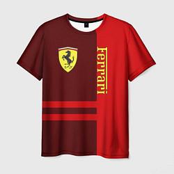 Футболка мужская Ferrari: Red Line цвета 3D — фото 1