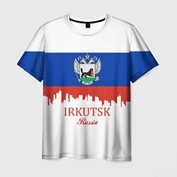 Футболка мужская Irkutsk: Russia цвета 3D — фото 1