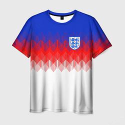 Футболка мужская Сборная Англии: Тренировочная ЧМ-2018 цвета 3D-принт — фото 1