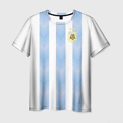 Футболка мужская Сборная Аргентины цвета 3D — фото 1