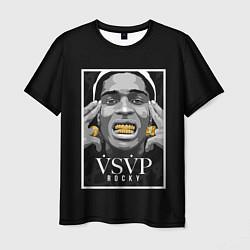 Футболка мужская ASAP Rocky: Gold Edition цвета 3D-принт — фото 1