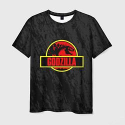 Футболка мужская Jurassic Godzilla цвета 3D-принт — фото 1