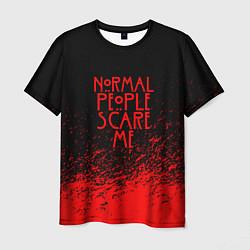 Футболка мужская Normal People Scare Me цвета 3D — фото 1