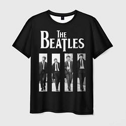 Футболка мужская The Beatles: Black Side цвета 3D — фото 1