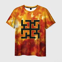 Футболка мужская Огненный символ Духобор цвета 3D — фото 1