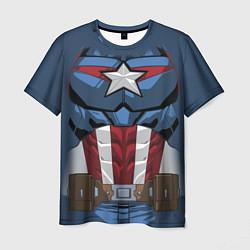 Футболка мужская Captain America Costume цвета 3D — фото 1