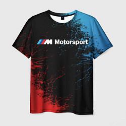 Футболка мужская БМВ Мотоспорт цвета 3D — фото 1