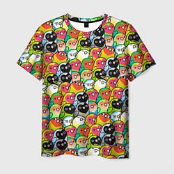 Мужская 3D-футболка с принтом Папуги, цвет: 3D, артикул: 10252293703301 — фото 1