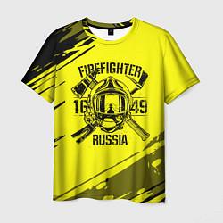 Футболка мужская FIREFIGHTER 1649 RUSSIA цвета 3D-принт — фото 1