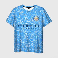 Футболка мужская Manchester City 2021 Home Kit цвета 3D-принт — фото 1