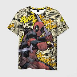 Мужская 3D-футболка с принтом Deadpool, цвет: 3D, артикул: 10275016703301 — фото 1
