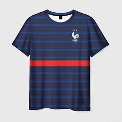 Футболка мужская Форма сборной Франции домашняя цвета 3D-принт — фото 1