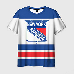 Футболка мужская New York Rangers цвета 3D-принт — фото 1