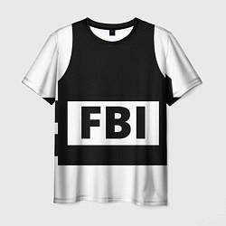 Футболка мужская Бронежилет FBI цвета 3D — фото 1