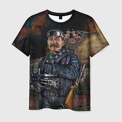 Футболка мужская Сталин военный цвета 3D-принт — фото 1