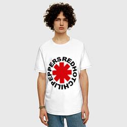 Футболка оверсайз мужская Red Hot Chili Peppers цвета белый — фото 2