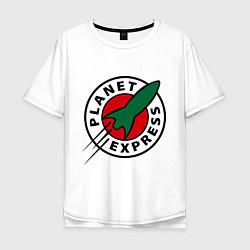 Футболка оверсайз мужская Planet Express цвета белый — фото 1